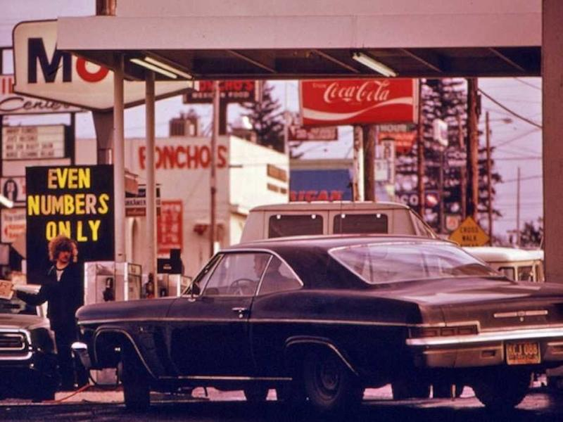 Image result for gas lines 1970's photos